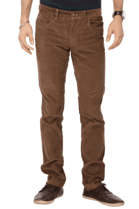 INDIAN TERRAIN Mens Flat Front Slim Fit Stripe Corduroy Trouser - 9983068