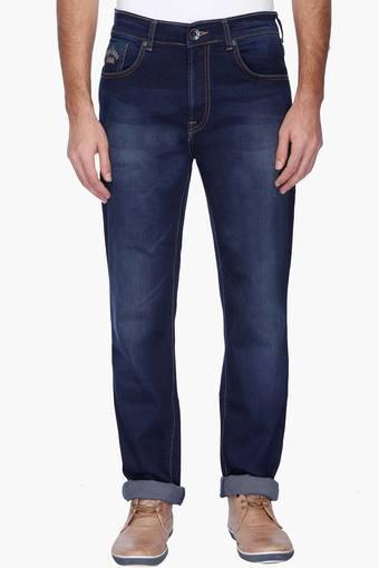 Mens Mild Wash Whiskered Jeans