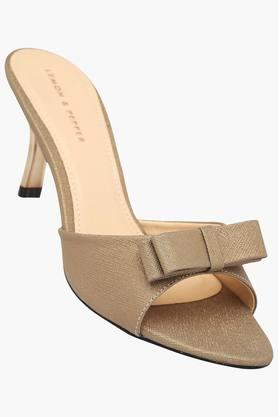LEMON & PEPPER Womens Daily Wear Slipon Heel Sandal