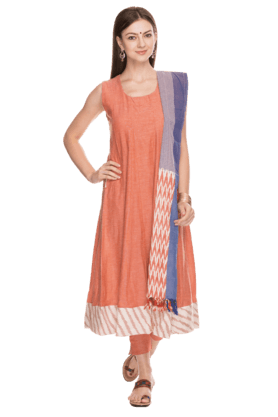 BIBA Womens Cotton Salwar Suit