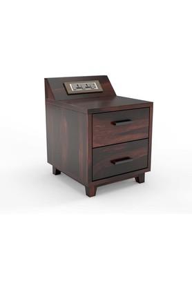 Sheesham Wood Side Table with 6 Amp Modular Switch and Socket