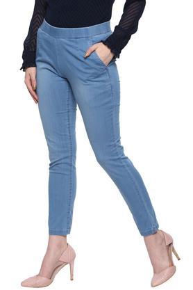 Womens 2 Pocket Rinse Wash Jeans