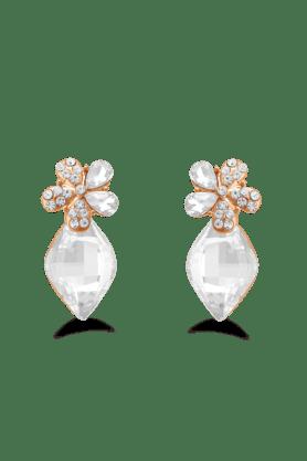 JAZZDaily Wear White Stone Drop Earrings For Womens