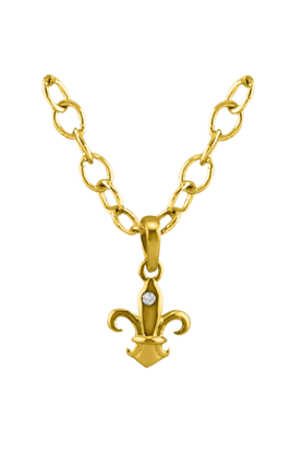 SPARKLESHis & Her Collection 18 Kt Pendant In Gold & Real Diamond HHPXP9134