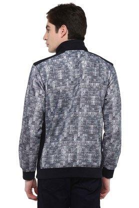 Mens High Neck Printed Sweatshirt