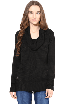 THE VANCA Women Wool Acrylic Cardigan - 200344446