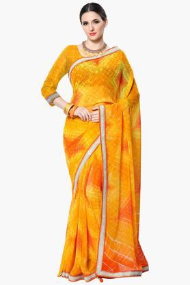Women Faux Georgette Geometrical Printed Saree