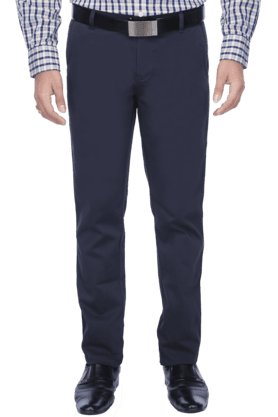 ALLEN SOLLYMens Flat Front Slim Fit Solid Chinos - 200041842