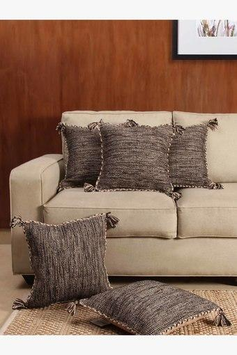 The Yarn Melange 100% Cotton Cushion Cover (Set Of 5)