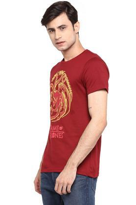Mens Round Neck Got Print T-Shirt
