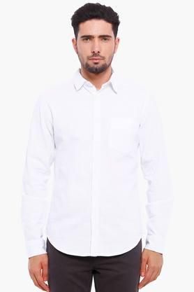 Blue Saint Formal Shirts (Men's) - Mens White Casual Shirt