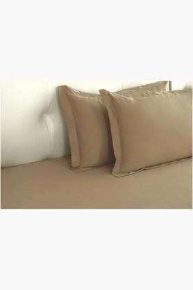 "ST CLOUD Taupe Biosense Solid Pillow Covers (Pillow Cover 18"" X 27"" (2 Pcs)"