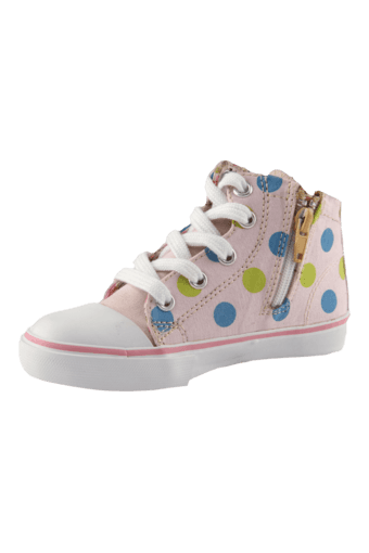 Girls Casual Lace Up Canvas Sneaker