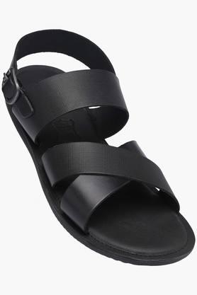 Mens Ankle Buckle Closure Formal Sandal