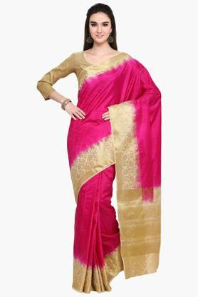 Womens Art Silk Golden Weave Saree With Blouse Piece - 202531366