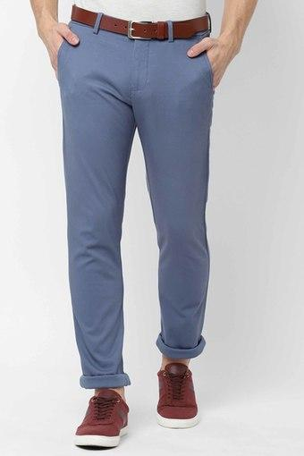 ALLEN SOLLY -  Mid BlueCasual Trousers - Main