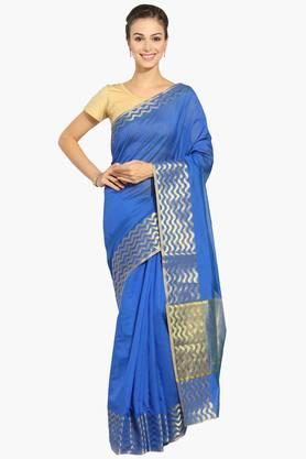 Women Chanderi Saree With Zari Border - 202310817