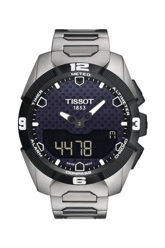 Mens Two Tone Dial Titanium Analogue-Digital Watch - T0914204405100