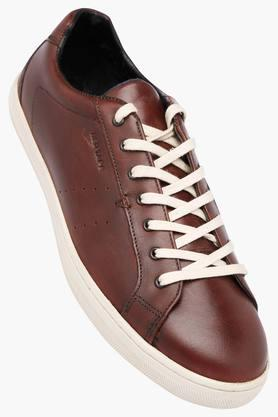 RED TAPE Mens Leather Lace Up Sneakers