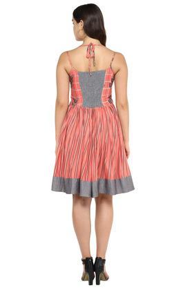 Womens Halter Neck Printed Skater Dress
