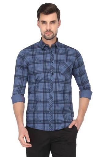 KILLER -  Navy Casual Shirts - Main
