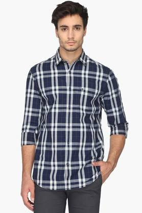 Izod Formal Shirts (Men's) - Mens Slim Fit Check Shirt