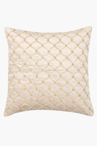Square Rope Jaal Embroidered Cushion Cover