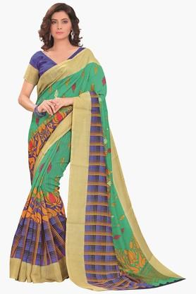 DEMARCA Womens Printed Cotton Saree - 201811329