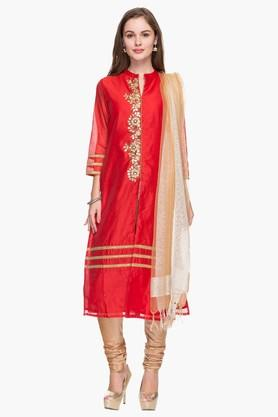IMARA Womens Embroidered Churidar Suit - 201430652