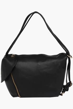 FEMINA FLAUNT Womens Synthetic Leather Zipper Closure Satchel Handbag