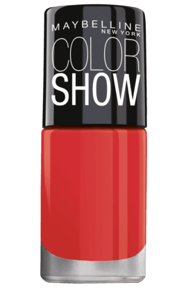 MAYBELLINEColor Show Bright Sparks Nail Polish Flash Of Coral 705
