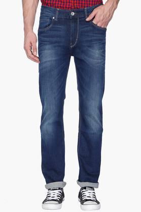 FLYING MACHINEMens Regular Fit Mild Wash Jeans (Django Fit)