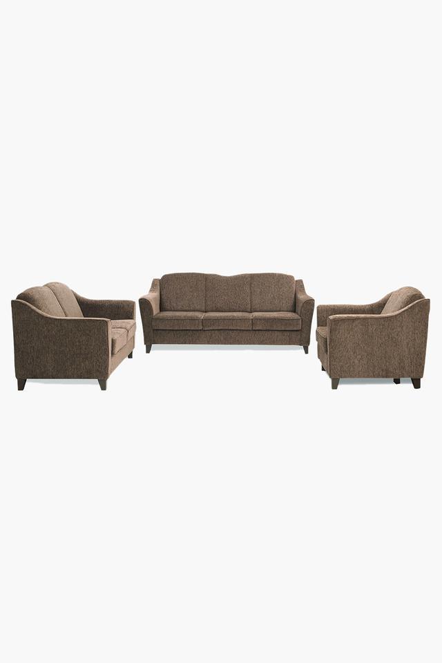 Chestnut Brown Fabric Sofa (3-2-1 Sofa Set)
