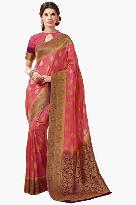 ASHIKAWomens Golden Weave Tussar Silk Saree