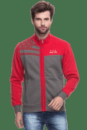 IZODMens Full Sleeves Slim Fit Printed Jacket