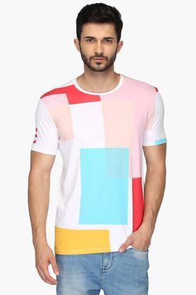 UNITED COLORS OF BENETTONMens Round Neck Printed T-Shirt