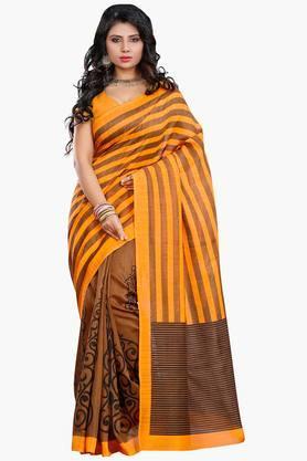 Women Bhagalpuri Art Silk Paisely Printed Saree