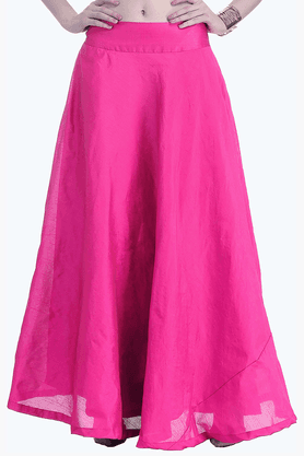 FABALLEY Womens Flared Maxi Skirt - 201560008