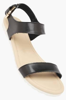 ALLEN SOLLY Womens Casual Wear Buckle Closure Flat Sandals