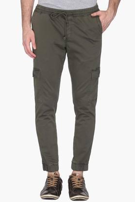 Mens Slim Fit 6 Pocket Solid Joggers