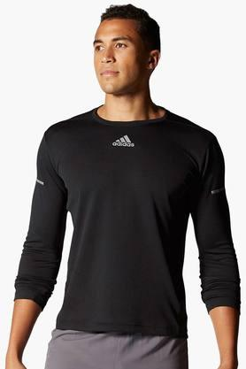ADIDAS Mens Round Neck Solid T-Shirt - 201142889
