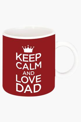 CRUDE AREA Keep Calm And Love Printed Ceramic Coffee Mug  ...