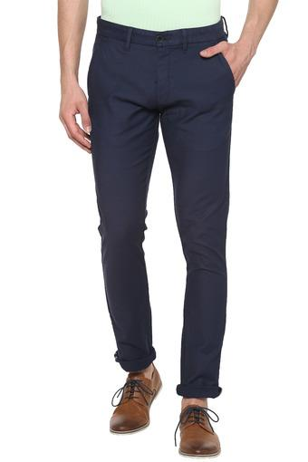 Mens 4 Pocket Textured Trousers