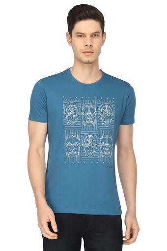 LOUIS PHILIPPE JEANS -  Light BlueT-shirts - Main