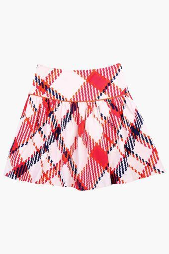9028f9df52 Buy NEEDYBEE Girls Suede Checkered Printed Cotrise Skirt | Shoppers Stop