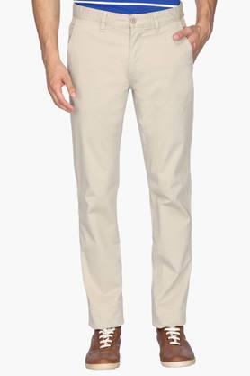 IZODMens 5 Pocket Slim Fit Solid Chinos - 202174125