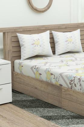 Printed Fitted Bed Sheet with Pillow Cover