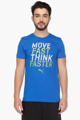 PUMAMens Round Neck Short Sleeves Printed T-Shirt - 201583874