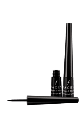 FACES Beyond Black Long Stay Liquid Eye Liner- Black 2.5 ML (15% Off On Rs.1000, 20% Off On Rs.2500, 25% Off On Rs.4000. Applicable On Total Purchase Of Faces Products)