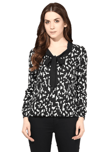 79e9c6aeb0 Buy THE VANCA Women Printed Bow Tie-up Top